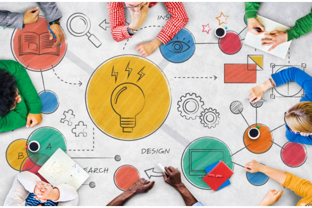 Innovation and creative diagram concep